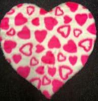 Funky Fun Soft Faux Fur Fabric Rug - HEARTS